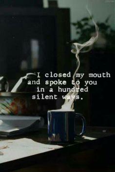 I closed my mouth...