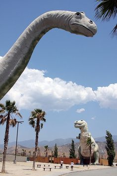 Giant extinct reptiles at Cabazon near Palm Springs,