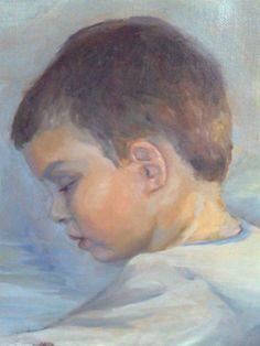 Poika, öljyvärityö, oil paintting, art, oil