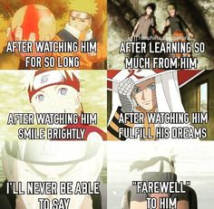 I am going to repin this every time i see it. Naruto is my childhood ... an important part of my life❤