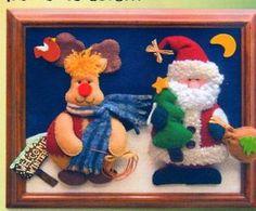 cuadros en falso patchwork navideños - Buscar con Google Tweety, Diy And Crafts, Applique, Merry, Wall Decor, Teddy Bear, Christmas Ornaments, Toys, Animals