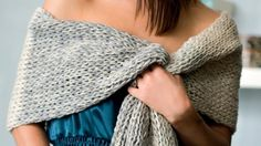 How to knit a shawl