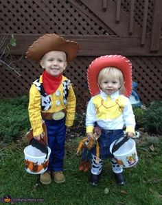 Toy Story Woody and Jessie - 2013 Halloween Costume Contest via @costumeworks
