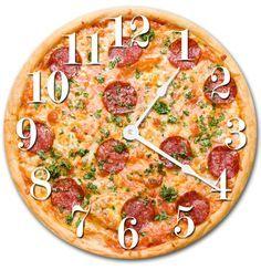 Sugar Vine Art Pizza Food Kitchen Clock Decorative Round Wall Clock Home Decor Wall Clock Large Novelty Clock Pizza Art, 5 Pizza, Pizza Food, Pizza Menu, Pizza Restaurant, Comida Pizza, Novelty Clocks, Living Room Clocks, Outdoor Clock