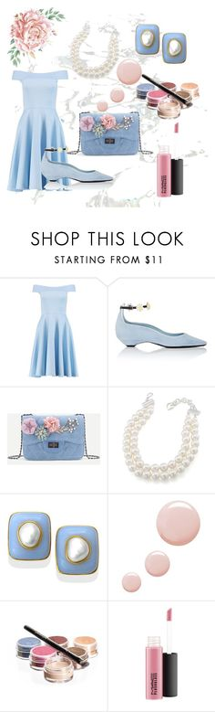 """""""flowers in bloom"""" by harmonyandlove ❤ liked on Polyvore featuring Boohoo, Fabrizio Viti, Carolee, Topshop and Bellápierre Cosmetics"""