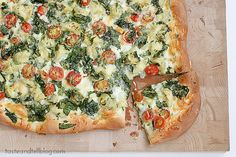 Saturdays with Rachael Ray - Artichoke, Tomato and Spinach Pizza - Taste and Tell