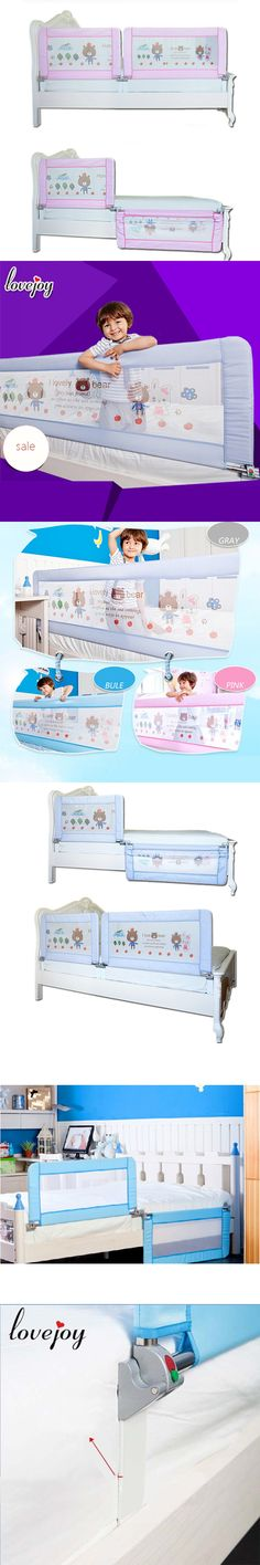 Aluminium Stroller Baby Bedrail Bed Safety Guard Rail Folding Crib 18 5 Rails
