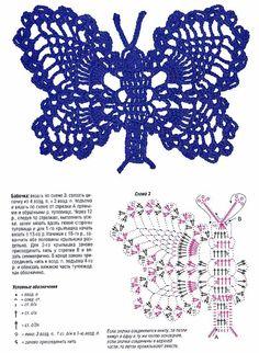 Fleurs et Papillons au crochet - Fleurs au crochet - Papillons au crochet - Le blog de monde-creatif