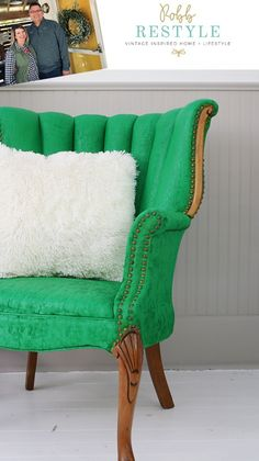 Baroque - Velvet Finishes Green Painted Furniture, Distressed Furniture Painting, Cool Furniture, Bedroom Dressers, Bedroom Furniture, Wingback Chair, Tub Chair, Baroque, Accent Chairs