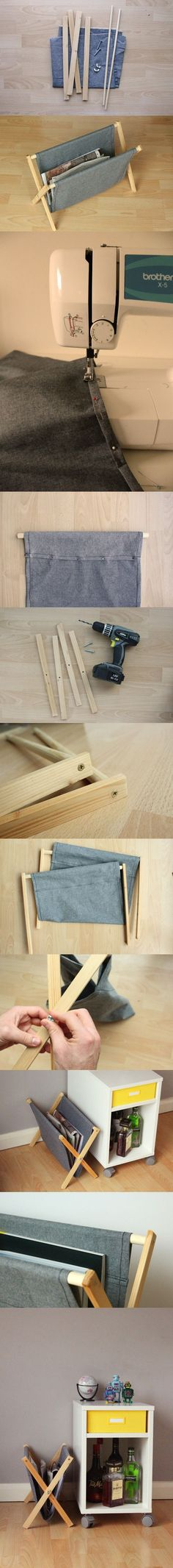 Un revistero plegable DIY - Va http://www.manmadediy.com/