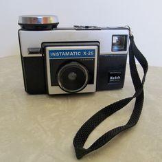 Kodak Instamatic X-25 Camera (Domestic Shipping Included) by GypsyKitschMA on Etsy https://www.etsy.com/listing/254287675/kodak-instamatic-x-25-camera-domestic