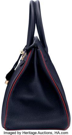 Hermes Special Order Horseshoe 35cm Indigo   Rouge Casaque  f76a2fc4c4f85