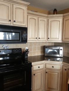 Grey Glazed Kitchen Cabinets Cream Cabinets With Grey Glaze And - Grey glazed cabinets