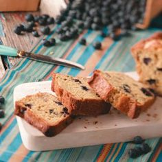 Healthy and delicious Blueberry-Citrus Mini Loaves.    Easy to make and something refreshingly different. #tasteofhome #recipes