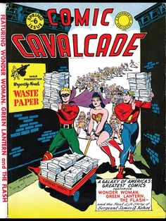 Comic Cavalcade - And this is why golden age comics are so rare. Marvel Comic Books, Comic Books Art, Comic Art, Book Art, Star Comics, Dc Comics, Earth Two, Comic Book Publishers, Justice Society Of America