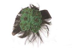 Double Flowers Fascinator in Emerald/Green, $26.99