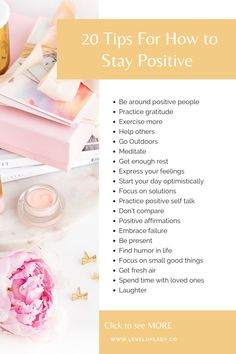 Do you know what they key to being positive is?| Level up Lady | In this post I'll teach you how to become a positive person, the benefits of being positive, and positive mindset shifts to help you stay positive. I can't wait for you to see the power of a positive attitude and how it will change your life! Click here to get started reading. #becomeapositiveperson #benefitsofbeingpositive #positvemindsettips Positive Psychology, Positive Mindset, Positive Attitude, Positive Thoughts, Positive Quotes, Mental Health Plan, You Are Blessed, Wellness Quotes, Self Acceptance