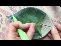 Leaf Pottery by Piper Pottery Clay Crafts, Fun Crafts, Diy And Crafts, Leaf Projects, Lantern Craft, How To Make Rose, Cement Art, Easy Fall Crafts, Concrete Crafts