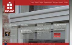 Webdesign België Limburg   Promac ramen