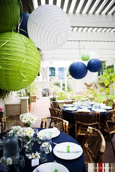Real Parties: Blue & Green Baby Shower | the little things.