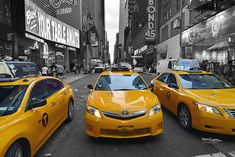 Yellow Cab New York by hawg Yellow Desk, New York, Usa, Yellow Table, New York City, Yellow Office, Nyc, U.s. States