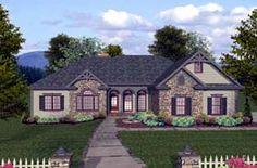 House Plan 74812   Craftsman   Ranch    Plan with 2000 Sq. Ft., 4 Bedrooms, 3 Bathrooms, 3 Car Garage