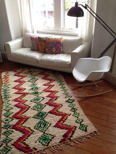 Vintage Moroccan rug - Boucherouite wool
