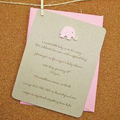 pink polka dot die cut elephant baby shower by graciegirlnotes