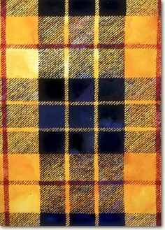Royal blue Yellow Black blocks Red striped Tartan