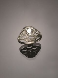Art Deco Tested Platinum Solitaire 2.15 Carat Diamond Ring Circa 1920-1930 Jewelry, Coins & Watches - Sale 1301 - Lot 149 - ADAM A. WESCHLER & SON, INC : AUCTIONEERS AND APPRAISERS - SINCE 1890