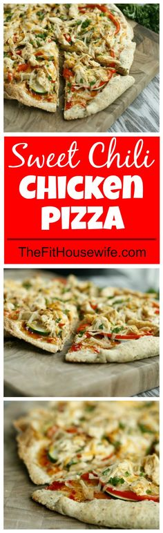 Sweet Chili Chicken Pizza. A delicious and healthy pizza recipe made with sweet chili sauce.