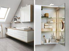 Inspirasjon til baderommet fra danske Dansani Modern Bathroom, Double Vanity, Interior Styling, New Homes, Layout, Mirror, Furniture, Bad, House Ideas