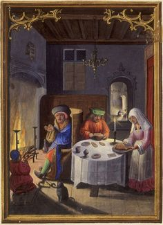 The Labours of the Months, January: Dinner Scene by renzodionigi, via Flickr