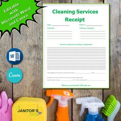 Building Cleaning Services, Professional Cleaning Services, Cleaning Companies, Cleaning Business, Cleaning Hacks, Cleaning Contracts, House Cleaning Checklist, Cleaning Company Names, Receipt Template