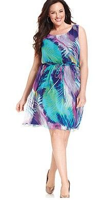 Feather Print Dress by Paper Doll