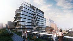 zaha hadid unveils luxury condo along new york's high line - designboom   architecture