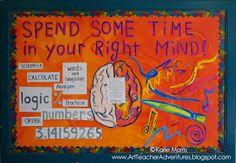 Adventures of an Art Teacher: Right Brain Bulletin Board