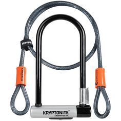 evo.com | Kryptonite U-Locks > Protect that slick investment you've made with the Kryptonite Kryptolok STD U-Lock with 4' Flex Cable. Equipped with everything you need for securing your rig. 12.7mm Hardened Performance Steel Shackle Resists cutting and leverage attacks. New Hardened Double Deadbolt Design Gives additional protection against twist attacks. Anti-Rattle Bumpers Reduce noise during transport. High Security Disc-Style Cylinder Pick and drill resistant. 4' Cable | Kryptonite Krypto D Lock, Lock Set, Safe Program, Bicycle Lock, Cable, Mini, Bicycle Lights, Cool Bikes, Black Silver