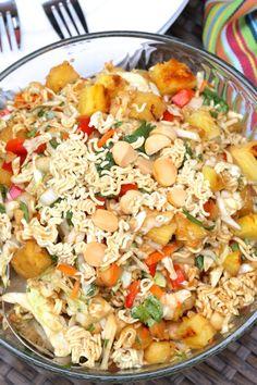 Crunchy Polynesian Salad | abeautifulbite.com | This looks amazing!