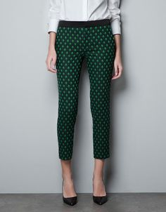 £39.99 TROUSERS WITH AN ARGYLE JACQUARD I love these!  Great piece that could be used again.   You could try ankle boots, but I do love a court.  Cardi & scarf if you wanted to make less 'officy' more 'smart/casual'