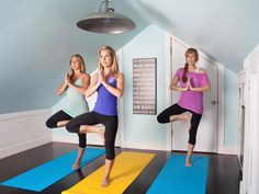 Yoga instructor turns a small attic into a colorful, coastal-inspired private studio on a budget on HGTV.com.