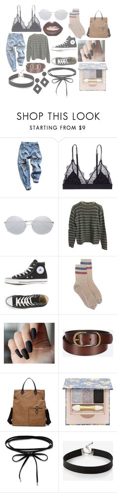 """grunge era inspired - Nirvana"" by lwucey ❤ liked on Polyvore featuring Levi's, LoveStories, Linda Farrow, Prada, RED Valentino, Uniqlo, Paul & Joe, Express and Kenneth Jay Lane"