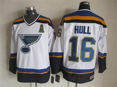 http://www.xjersey.com/blues-16-hull-white-ccm-jerseys.html BLUES 16 HULL WHITE CCM JERSEYS Only 47.31€ , Free Shipping!