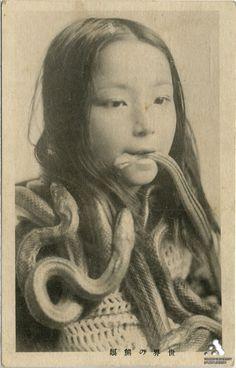 A remarkable vintage Japanese postcard image
