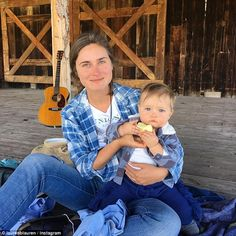 Family getaway: Lauren Bush Lauren spent Labor Day weekend in Colorado with her husband and their son, James
