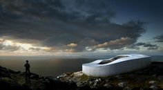 Danish architects Bjarke Ingels Group (BIG) has won the invited competition to design Greenland's new National gallery of art in the capital city of Nuuk. Architecture Artists, Conceptual Architecture, Architecture Design, Architecture Events, Chinese Architecture, Architecture Illustrations, Architecture Graphics, National Art, National Gallery Of Art