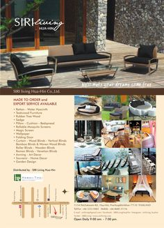 We're a distributor of wood&rattan furniture with good quality.