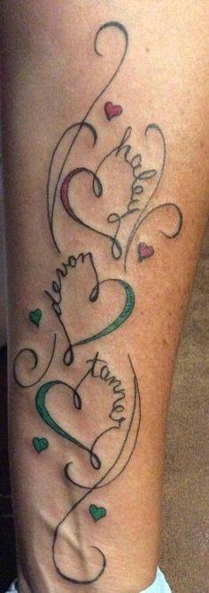 Faith Family Infinity Tattoo Design
