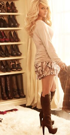 Love the outfit & the boots... Jessica Simpson shoes are sooo comfortable & fabulous I just love them!