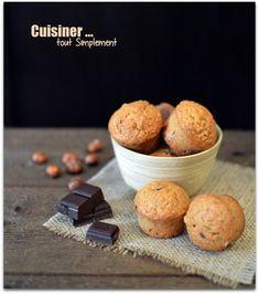 Mini-Moelleux Noisette - Chocolat - Cuisiner... tout Simplement, Le Blog de cuisine de Nathalie